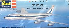 REVELL BOEING 720 JET FLAGSHIP UNITED PLASTIC MODEL KT 85-0243 Sealed-Rare