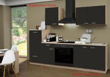 Küchenzeile ohne Geräte Einbauküche ohne Elektrogeräte Küche 270 cm schoko-braun