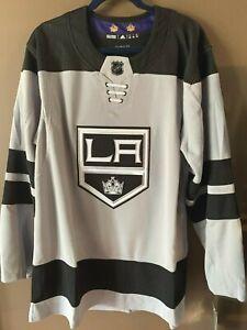 Adidas NHL LA Kings Jersey Men's Gray /Black Size 50