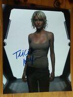 "Tricia Helfer Battlestar Galactica Caprica Six signed 10 x 8"" photo certified"
