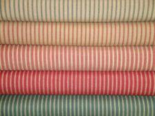 Homespun Ticking Fabric | Stripe Cotton Fabric | Fat Quarter Bundle Of 5