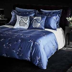 RARE $499 FRETTE SANREMO SAPPHIRE KING DUVET COVER BLUE VIOLETS CORN FLOWER NEW