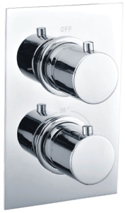 CONCEALED TWIN THERMOSTATIC 1 OR 2 OUTLET ROUND/ SQUARE SHOWER MIXER VALVE