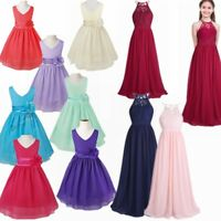 Girls Kids Formal Occasion Bridesmaid Party Prom Event Wedding Flower Dresses