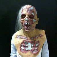 Halloween Prop Walking Dead Latex Mask Full Head Horror Zombie Masks Decor