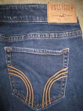 Hollister Skinny Slim Stretch Dark Blue Denim Jeans Womens Size 7 R x 29.5