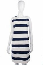 'S Max Mara blue and cream striped dress size 10