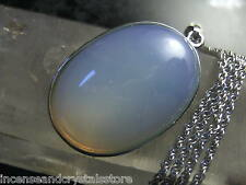 OPALITE 40x25mm Stunning Oval Pendant with 400mm chain and pouch