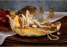 Art Nouveau Enchanted Fairy Trinket Dish Treasure Holder Sculpture