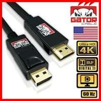 4K Display Port DP to HDMI 60Hz 2160P 25.92Gb HDR Audio Video Cable Adapter 10FT