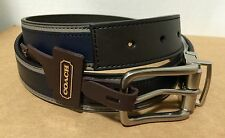 COACH F62354 Heritage Leather Sport Reversible Cut to Size Belt, Black/Slate New