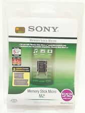 Sony Memory Stick Card Micro M2 Genuine Adaptors 512 MB Brand New and Sealed