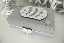 Ticket Box Bridesmaid Wedding Gift Keepsake Personalised Wood Shabby Chic B08