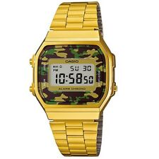 Casio Digital Fashion Vintage Gold Unisex A168wegc-3d