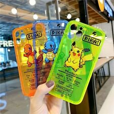 Fluorescent Color Cute Pokemon Cartoon Phone Case For iPhone 11 Pro Max