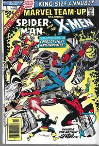Complete Set Marvel Team-Up Annual 1-7 Spider-Man X-Men Hulk thing VG/NM FZ