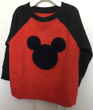 Disney New Mickey Mouse Boy's Shirt 18 Months Red Gray Raglan Sleeve
