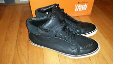 Ben Sherman Chill sz 9 high top shoes black tumbled leather british mod UK style