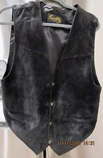 Scully Men's Leather Suede Black Western Vest Medium