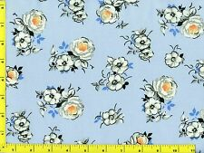 Spring Fling Flowers on Light Blue Quilting Fabric by the Yard #432b