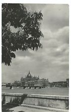 Budapest, View Across River From Riverbank RP PPC 1956 PMK Redirected