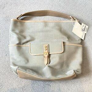 BNWT MAX MARA Beige Tan Canvas & Leather Tote Women's Hand Bag RRP £165