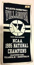 Villanova Wildcats Basketball 1985 NCAA National Championship Banner