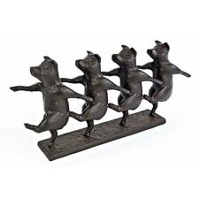 Dancing Pigs Iron Statue Home Whimsical Sculpture