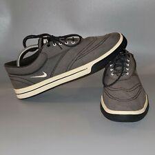 New listing Nike Lunarlon Men's Size 11.5 Gray Canvas Spikeless Golf Shoes (552078-004)