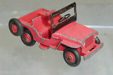 "DINKY TOYS MODEL No. 25Y/ No. 405 UNIVERSAL  JEEP    "" RED  VERSION"""