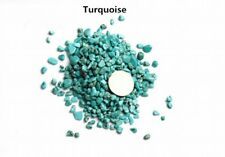 Natural 50g/Bag Smooth Turquoise Quartz Crystal Stone Rock Chips Lucky Healing