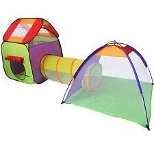 Kinderspielzelt + Tunnel + Tasche Kinderzelt Bällebad Spielhaus Spielzelt Iglu