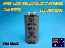 ABS Series 250VAC 300MFD Motor Start Run Capacitor 2 Terminal (G148) - Brand New