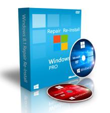 Windows 8 / 8.1 Professional Reinstall Recovery DVD Boot Disc + Drivers 64 Bit