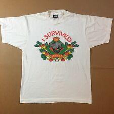 New listing Vtg 80s/90s I Survived The Jungle L T-shirt Elephant Single Stitch Screen Stars