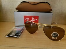 Ray-Ban 3026 Aviator Sunglasses Polished Gold/G-15 Brown  58mm
