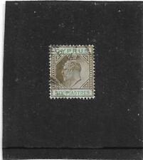 "Cyprus King Edward Vii 1902-04 6pi ""Six Piastres"" Sepia & Green Sg.55 Fine Used"