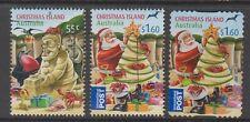 Christmas Island  2012 Christmas Fine used set 3 stamps