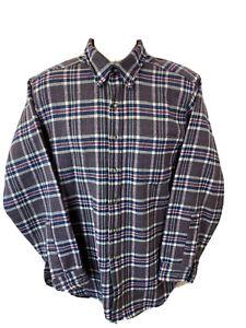 VTG Pendleton Mens Medium M Wool Button Front Flannel Plaid Long Sleeve Shirt