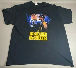 Floyd Mayweather VS Connor McGregor Boxing Promo T Shirt   Never Worn   Size XL