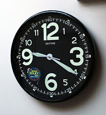 NEW Wall Clock Super Luminous Glow In Dark Read At Night Silent No Tick Bedroom