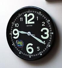 Nouvelle horloge murale super lumineux glow in dark lire la nuit silencieuse sans tic chambre à coucher