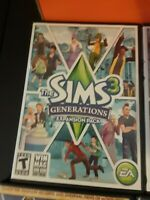 Lot of 2 - The SIMS 3 Expansion PC Games Generations + guide book, Seasons