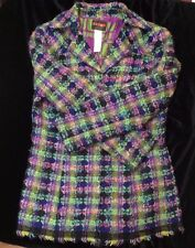1980s Christian Lacroix Bazar multicoloured wool tweed jacket 14 to 16 42 good