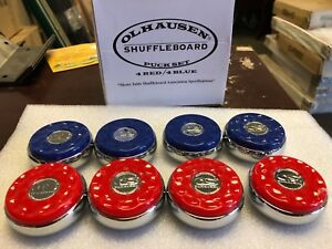 Olhausen Shuffleboard & Billiards Co- Pucks Set of 8 -Free shipping