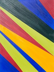 Abstract Art on Canvas Oil Painting Modern Original Framed, Angle 10