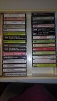 Lot Of (30) Cassettes With Music Library Case Attache Easy Listening Oldies...
