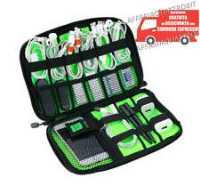 custodia porta cavi usb borsa accessori pc organizer da viaggio porta hard disk