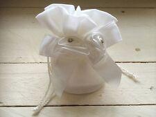 Ivory Flower Diamanté Children's Small Bag Flower Girl Bridesmaid Wedding