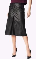 NWT 7 FOR ALL MANKIND Sz25 WOMEN LAMB LEATHER CULOTTE BLACK $650.00